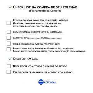 Check List colchão